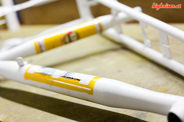 Junior Stratostreak 3 – Rahmen abkleben
