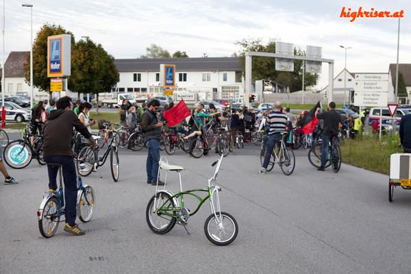 Schwinn Pea Picker Repop bei der 50. Critical Mass in Graz